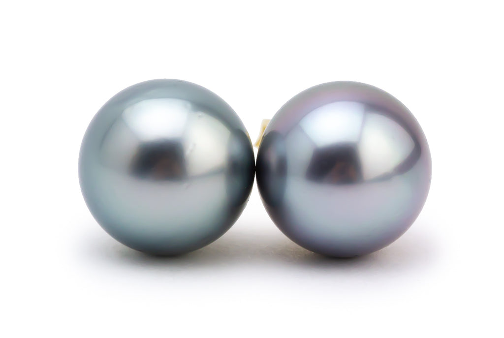 Light Blue Dream Tahitian Pearl Stud Earrings