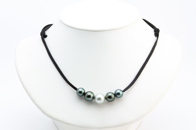 Quintuple 10-12mm Mana Pearl Necklace