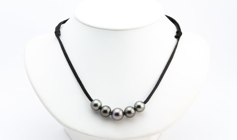Quintuple 11-13mm Mana Pearl Necklace