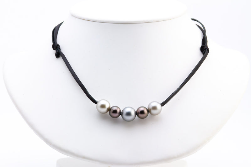 Quintuple 9-11mm Mana Pearl Necklace