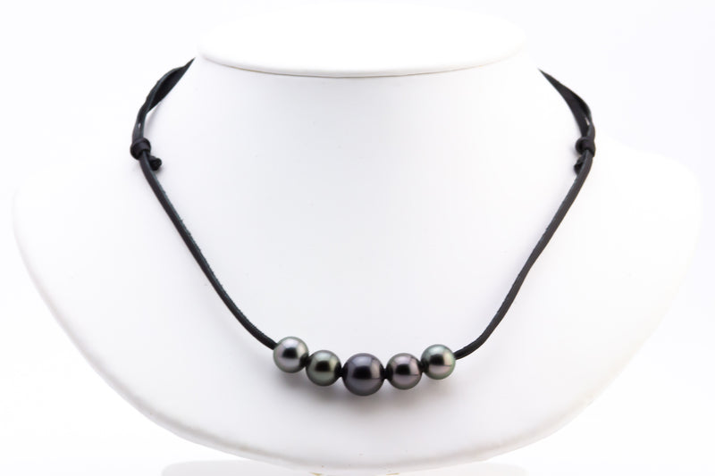 Quintuple 9.6-11.8mm Mana Pearl Necklace