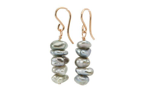 Stacking Stones Tahitian Keshi Dangles