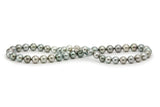 Silver Tahitian pearl strand round 9.5mm-11mm