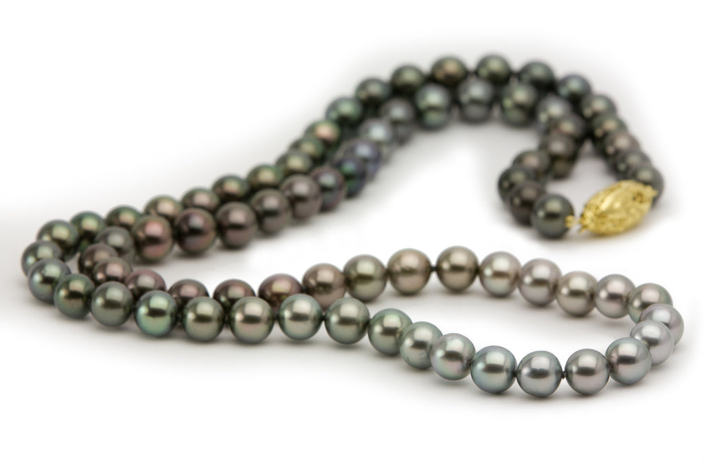 Ombre Tahitian pearl strand opera length