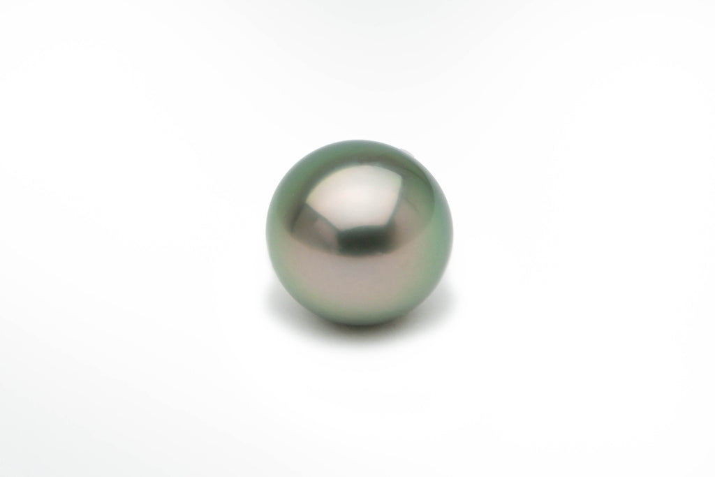 Aqua peacock green Tahitian pearl enhancer pendant necklace