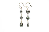 harvest Tahitian pearl and keshi dangle earrings