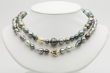 Baroque mixed Tahitian pearl 36 inch necklace