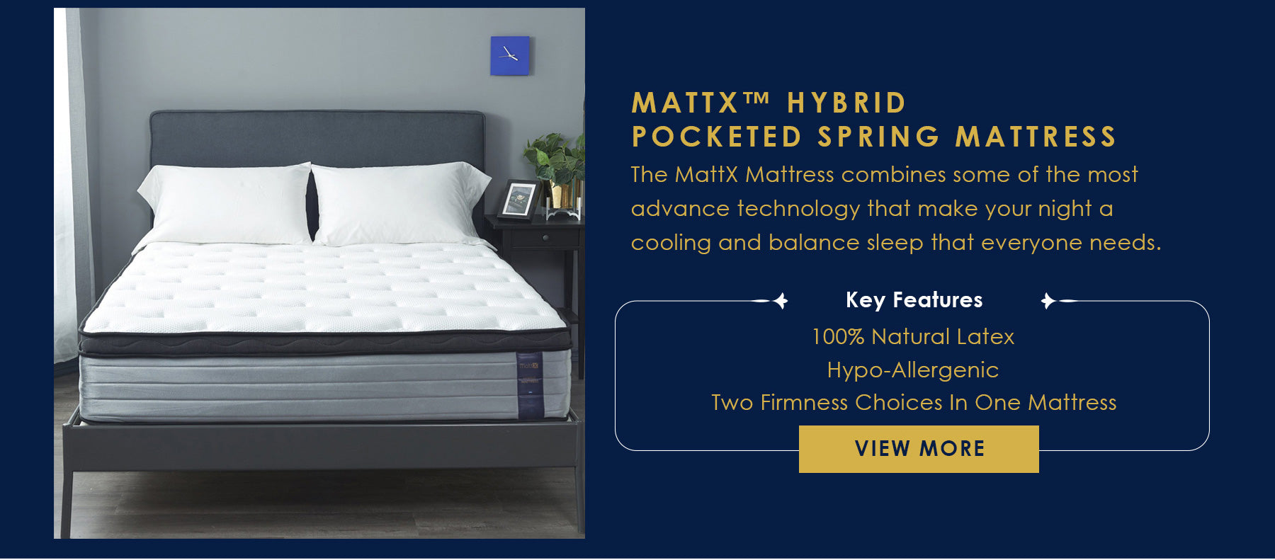 MattX™ Hybrid Pocketed Spring Mattress