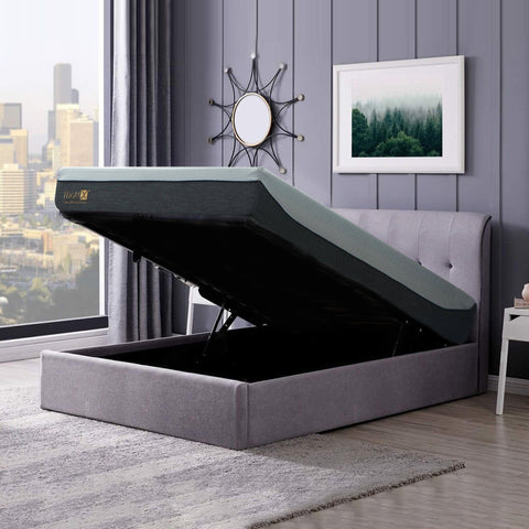 Bedding Affairs' Customised Leather Bed Frame with Storage Bed