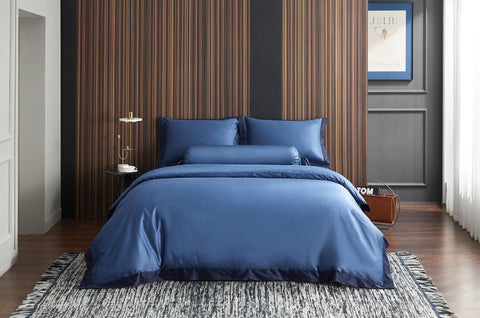 Cyprus Blue Fitted Sheet Set