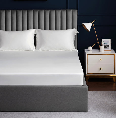 Palais Suite TENCEL™ Pearly White Fitted Sheet Set