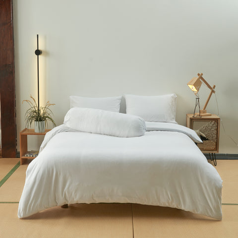 Cotton Pure™ White Jersey Cotton Fitted Sheet Set
