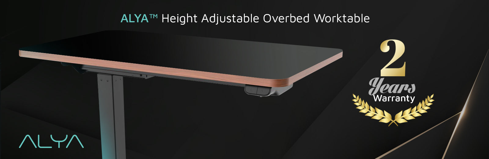 ALYA™ Height Adjustable Overbed Worktable comes with 2 Years Warranty