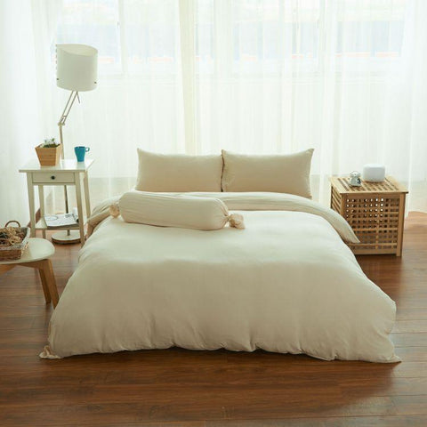 Cotton Pure™ Milky Beige Jersey Cotton Fitted Sheet Set