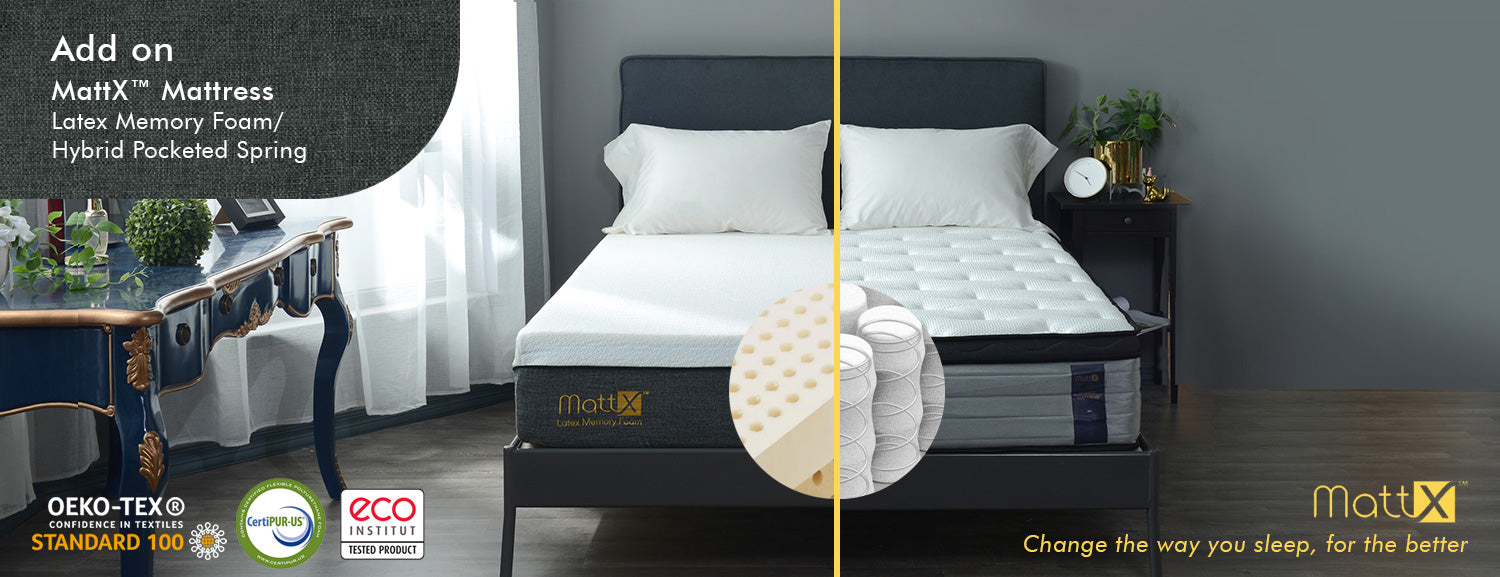 mattx mattress latex memory foam hybrid pocketed spring bedding affairs singapore