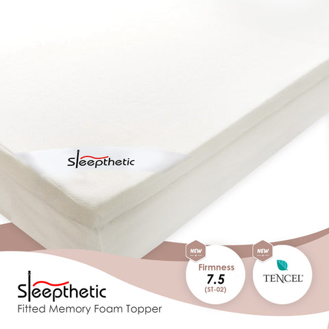 Sleepthetic™ Fitted Memory Foam Topper