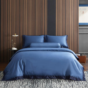 Hotelier Prestigio™ Supima Cotton Cyprus Blue Quilt Cover