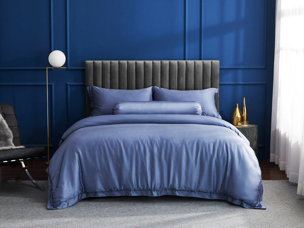 Palais Suite TENCEL™ Pervenche Blue Quilt Cover - Bedding Affairs