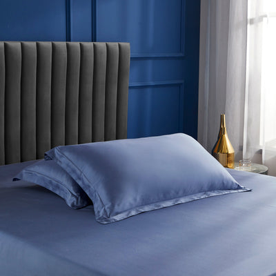 Palais Suite TENCEL™ Pervenche Blue Pillow Case - Bedding Affairs
