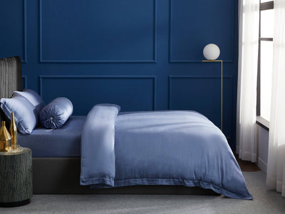 Palais Suite TENCEL™ Pervenche Blue Fitted Sheet Set - Bedding Affairs