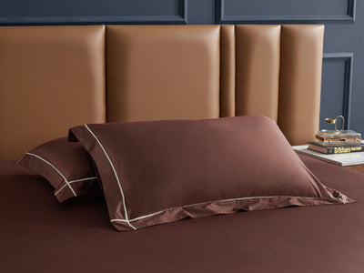 Hotelier Prestigio™ Bruno With Tawny Cross Border Pillow Case - Bedding Affairs