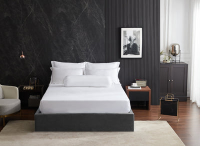 Hotelier Prestigio™ Alvar With Grey Cross Border Quilt Cover - Bedding Affairs