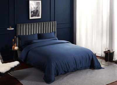 Palais Suite TENCEL™ Empress Blue Bolster Case - Bedding Affairs