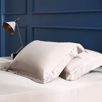 Palais Suite TENCEL™ Bagel Beige Fitted Sheet Set - Bedding Affairs