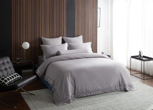 Hotelier Prestigio™ Ashlyn With Grey Border Pillow Case