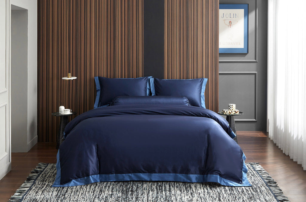 Hotelier Prestigio™ Supima Cotton Royal Azure Bolster Case - Bedding Affairs