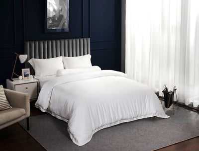 Palais Suite TENCEL™ Pearly White Bolster Case - Bedding Affairs