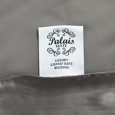 Palais Suite TENCEL™ Steel Gray Bolster Case - Bedding Affairs