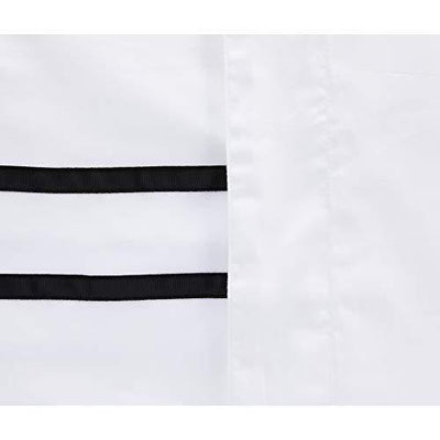 Hotelier Prestigio™ Black Grosgrain Border Fitted Sheet Set - Bedding Affairs