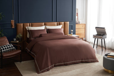 Hotelier Prestigio™ Bruno With Tawny Border Quilt Cover - Bedding Affairs