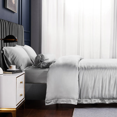 Palais Suite TENCEL™ Silvery Grey Bolster Case - Bedding Affairs