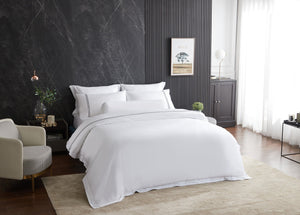 Hotelier Prestigio™ Lucent White With Black Lines Pillow Case
