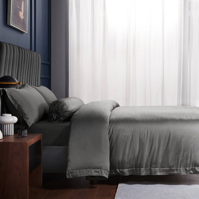 Palais Suite TENCEL™ Imperial Gray Bolster Case - Bedding Affairs