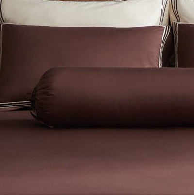 Hotelier Prestigio™ Bruno With Tawny Border Bolster Case - Bedding Affairs