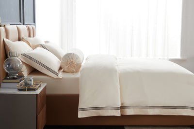 Hotelier Prestigio™ Aruna With Umber Border Pillow Case - Bedding Affairs