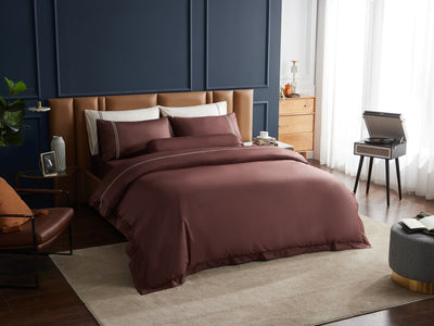Hotelier Prestigio™ Bruno With Tawny Lines Quilt Cover - Bedding Affairs