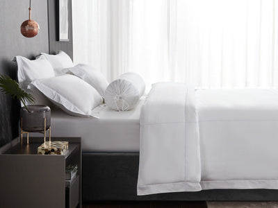 Hotelier Prestigio™ Alvar With White Cross Border Pillow Case - Bedding Affairs