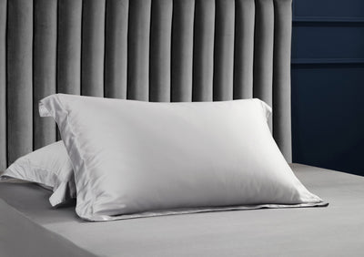 Palais Suite TENCEL™ Silvery Grey Pillow Case - Bedding Affairs