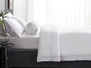 Hotelier Prestigio™ Lucent White With White Lines Pillow Case
