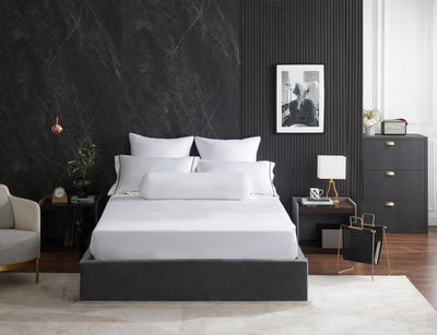 Hotelier Prestigio™ Alvar With Black Cross Border Pillow Case