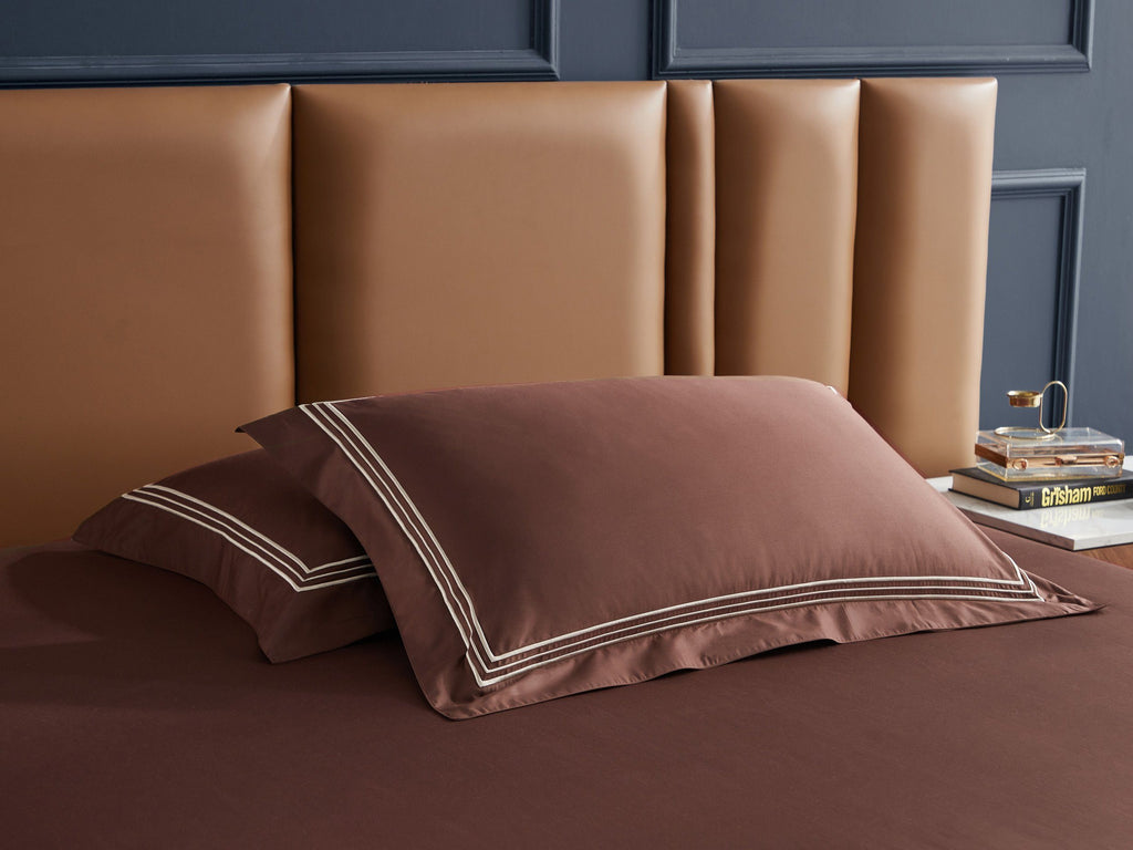 Hotelier Prestigio™ Bruno With Tawny Border Pillow Case - Bedding Affairs