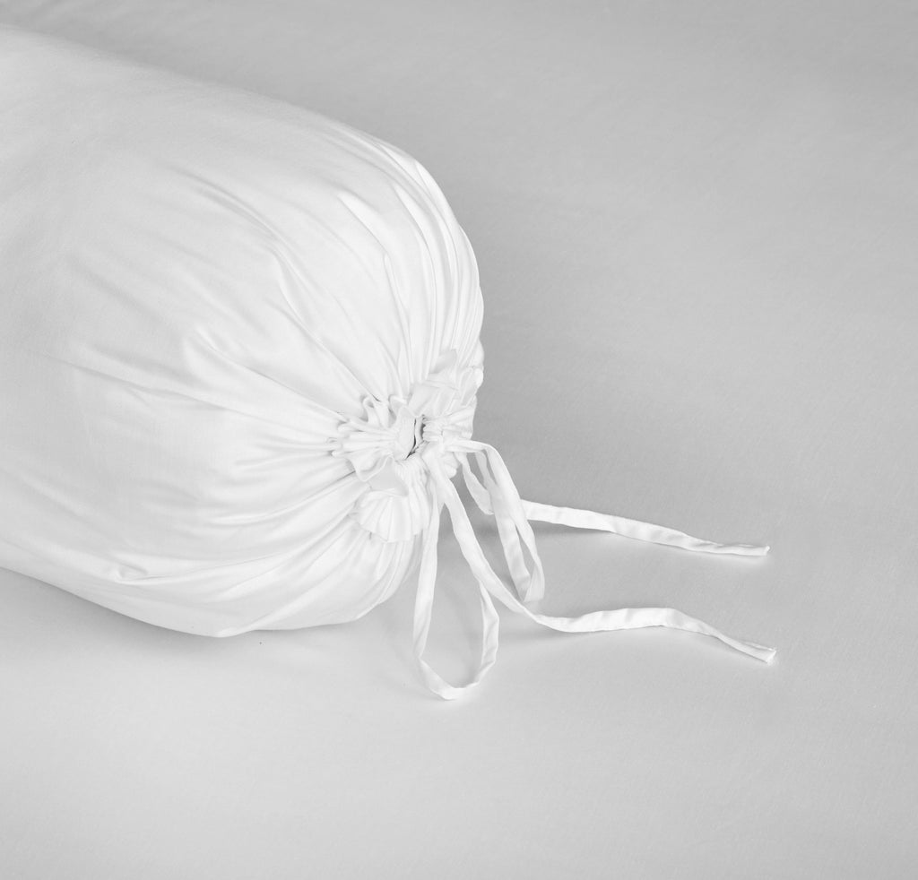 Palais Suite TENCEL™ Pure White Bolster Case - Bedding Affairs