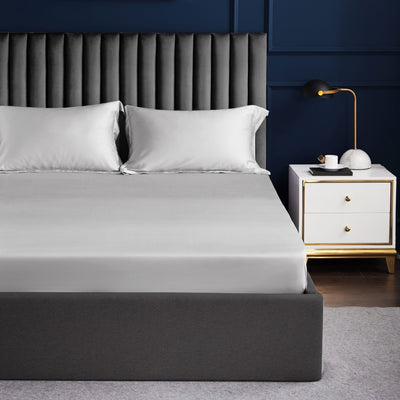 Palais Suite TENCEL™ Silvery Grey Quilt Cover - Bedding Affairs