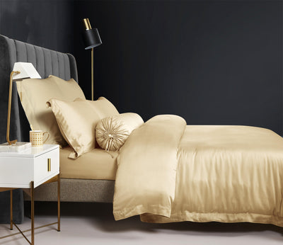Palais Suite TENCEL™ Classic Gold Fitted Sheet Set - Bedding Affairs