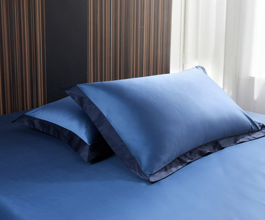 Hotelier Prestigio™ Supima Cotton Cyprus Blue Quilt Cover - Bedding Affairs