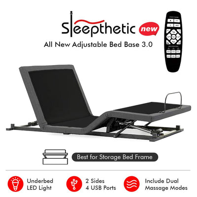 Sleepthetic™ Adjustable Bed Base Version 3.0 - Bedding Affairs